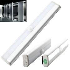 10 LED Sensor Night Light Cabinet Vibration Shake Wall Lamp Closet Cupboard PIR