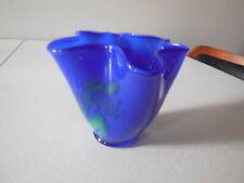 Vintage Hand Crafted Studio Art Glass Vase, Signed