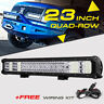 QUAD-ROW 23INCH 2256W  LED Light Bar Spot Flood Offroad Bumper Pickup 22/24""