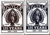 2 Decks Bicycle 125th Anniversary Playing Cards 125 Yrs