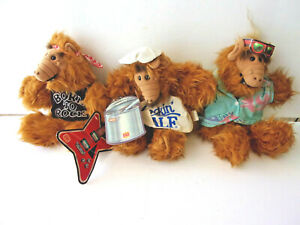 VINTAGE 1988 BURGER KING ALF HAND PUPPETS LOT OF 3 ALLL MINT CONDITION