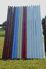 Horse Jumps Mix & Match 12ft Colored CUT Wood Rails Horse Tack - Color Choice