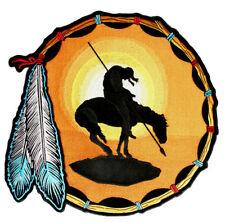 Final del camino indio nativo, plumas bordado BIKER parche Envío Gratis