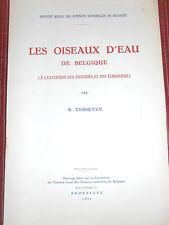 Livre les oiseaux d'eau de Belgique par R . VERHEYEN année 1951  (réf 26)