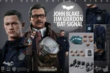 =MIB= 1/6 Hot Toys John Blake & Jim Gordon with Bat-Signal MMS275 Dark Knight