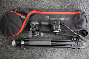 Manfrotto 055XPROB Tripod with 804RC2 and 701HDV heads + MBAG80N bag