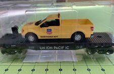 Union Pacific Flatcar w/ F150 Maintenance Dept. Truck, Menards 279-2643 NEW