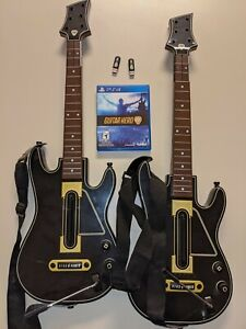 Guitar Hero Live Bundle PS4 Playstation 4 with 2 guitars and 2 dongles
