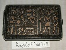 Vape Metal hard case antique Gold Hieroglyphics NEW in package for 510 E-cig