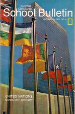 national geographic-SCHOOL BULLETIN-oct 19,1970-UNITED NATIONS-25TH BIRTHDAY.
