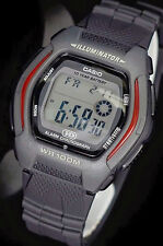 Casio HDD-600-1A Men's Black Digital Watch 100M WR 10 Year Battery Red Sport New