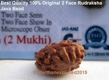 LAB CERTIFIED 2 MUKHI RUDRAKSHA / TWO FACE RUDRAKSH -JAVA BEAD -ENERGIZED