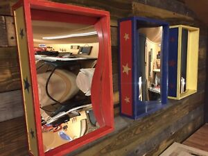 """M1 Handmade circus style """"hall of mirrors"""" wall mounted. Funfair Fairground"""