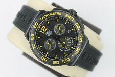 Tag Heuer CAU111E.FT6024 NEW NWT Formula One Watch Mens BLACK Yellow CHRONOGRAPH