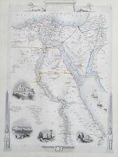 c1854 EGYPT & ARABIA PETRAEA Genuine Antique Map by Rapkin FREE POSTAGE
