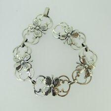 """Leaf Clover Bracelet 7.25"""" Sterling Silver Lang Four"""