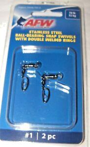 AFW BALL BEARING STAINLESSS STEEL SNAP SWIVELS GUN METAL BLACK WELDED RINGS