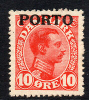 Denmark 10 Ore Postage Due Stamp c1921 Mounted Mint (2325)