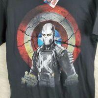 Marvel Men's Civil War Captain America Sz Medium Short Sleeve Graphic T-Shirt