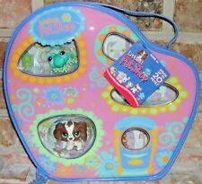 Littlest Pet Shop RARE Freckled COCKER SPANIEL 156 Frog 155 Carry Case 20 RARE
