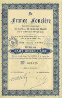 La France Fonciere Company  > 1936 Paris France bond certificate