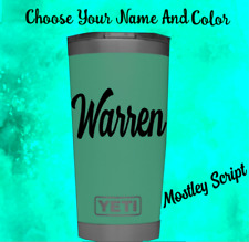 Monogram vinyl decal for Tumblers Cups Sticker Personalized Name  2.5