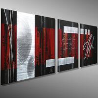 MICO Modern Kunst ORIGINAL malerei bilder handgemalt Leinwand BILD SILBER