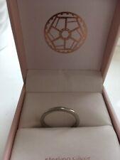 Vintage 18ct White Gold Fancy Wedding Ring Size K