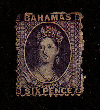 Bahamas-1863-65-SC 14-Used-No Gum-Queen Victoria
