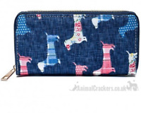 Ladies Sausage Dog Purse Wallet zipped multi compartment Dachshund lover gift