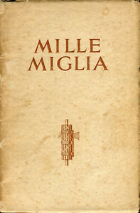 Mille Miglia - MG success brochure motor racing motor sport 1933