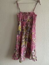 PINK FLORAL STRAPPY DRESS NEXT 10 12 14  TOWIE CELEB CUTE GLAM PRETTY SUMMER