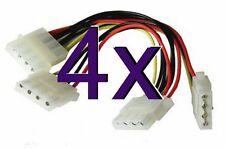 [ 4 Pack ] 3 modo 4 Pin PSU de alimentación Cable de divisor Lp4 Molex 1 A 3 [ 000146 ]