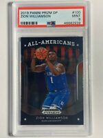 Zion Williamson 2019 Panini Prizm Draft Picks #100 Rookie RC Duke Card - PSA 9