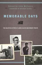 Memorable Days: The Selected Letters of James Salter and Robert Phelps-ExLibrary