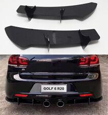 Add-on Black plastic Diffuser With Fins For VW Golf 6 MK6 R R20 2009-2013