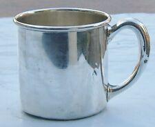 H R Morss & Company Sterling Silver Mug Adult Cup North Attleboro MA Silversmith