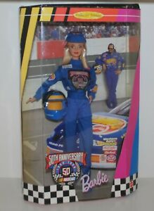 Barbie Doll 50th Anniversary Nascar Collector Edition #20442 By Mattel