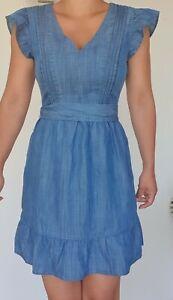 Women's Ex OASIS Belted Tencel Dress UK Size 8 10 12 14 - NEW