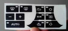 Set di adesivi per riparare i tasti del condizionatori per Audi A3 8P