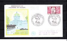 enveloppe 1er jour  accademie des sciences   Paris  voyagée  1966