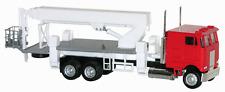 HO Scale Peterbilt COE Boom (Crane/Picker) Truck - Red - Herpa #6458