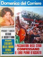 La Domenica del Corriere 27 Febbraio 1975 De Andrè Violenza Stadi Africa Chiari