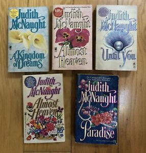 Lot of 5 Judith McNaught PB Books Historical Romance Pocket 1990s VG