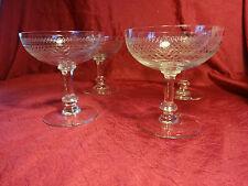 4 coupes à champagne en cristal ancienne St.Louis baccarat