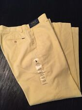 **NWT**Polo Ralph Lauren Mens Yellow Classic Fit Chinos Size 33 x 30 Retail: $89