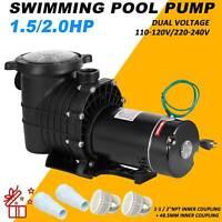 1.5/2.0HP Swimming Pool Pump Motor Strainer Generic For Hayward Replacemen USA