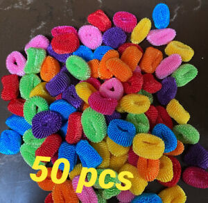 50x  Mini Assorted Colour Elastic Baby Girls Kids Toddler Hair Bands Bobbles