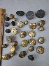 "30 Vintage U.S.NAVY BUTTONS,Brass,Anchors, 9/16"" - 1 1/8""Diameter"