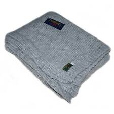 Grey Knitted Throw / Blanket by Tweedmill Textiles